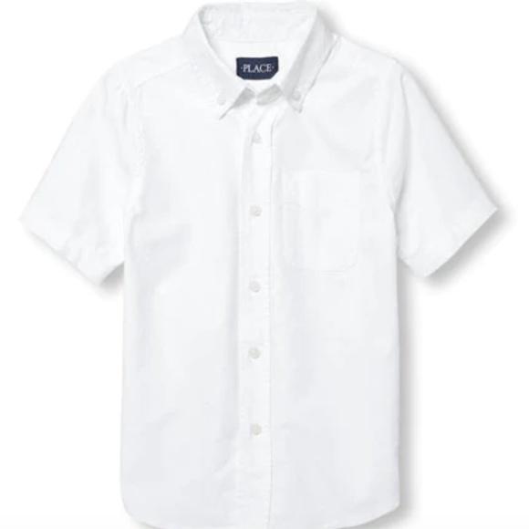 Children's Place Other - NWT Boys Uniform Short Sleeve Button-Down Shirt
